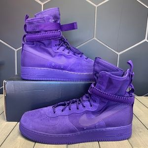 New Nike SF Air Force 1 Court Purple High Boots